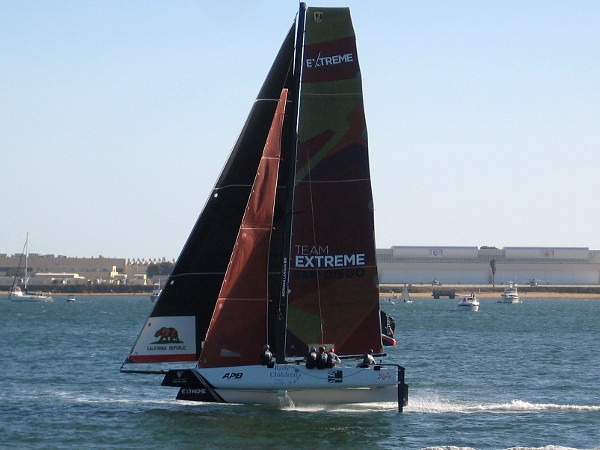 Our local Team Extreme San Diego was making a great showing! San Diego has produced many of the world's top sailors.