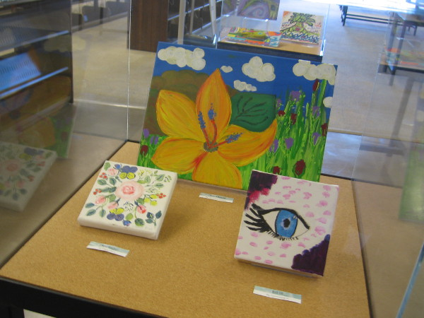Many expressive works by talented artists are now on display at the San Diego Central Library.
