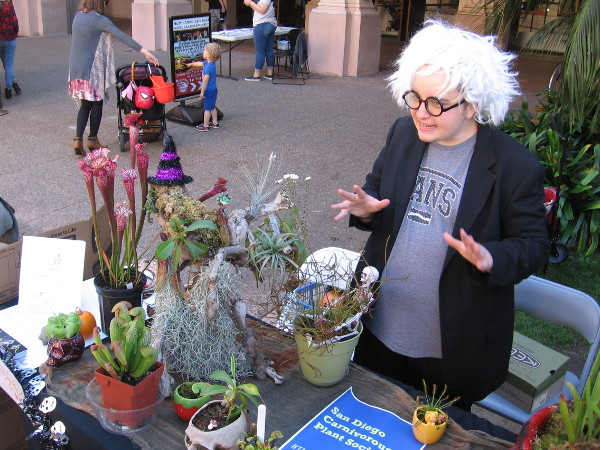 Flesh-eating plants displayed by the San Diego Carnivorous Plant Society appeared even scarier than usual!