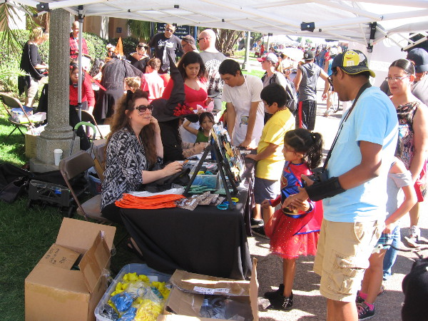 The San Diego Public Library was at the annual event promoting reading. Something a bit spooky might be perfect today.