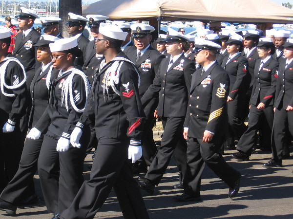 The military was honored in San Diego during the 2017 Veterans Day Parade along the Embarcadero.