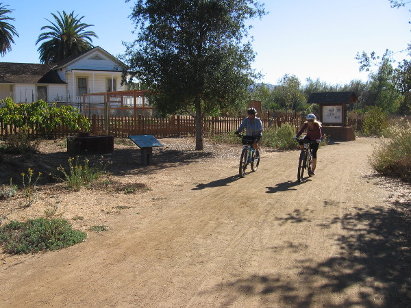 The trail past the old farmstead is popular with hikers, mountain bikers and equestrians.