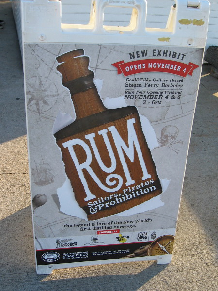 Rum: Sailors, Pirates and Prohibition is a cool new exhibit inside the Steam Ferry Berkeley, at the Maritime Museum of San Diego!