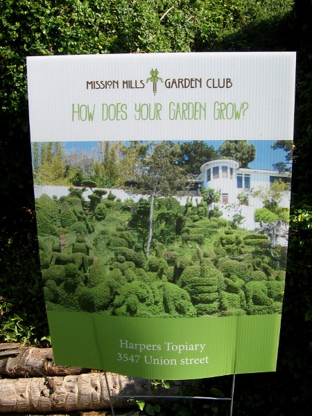 Mission Hill Garden Club asks How Does Your Garden Grow? I'll bet it's nothing like the Harper's Topiary Garden!