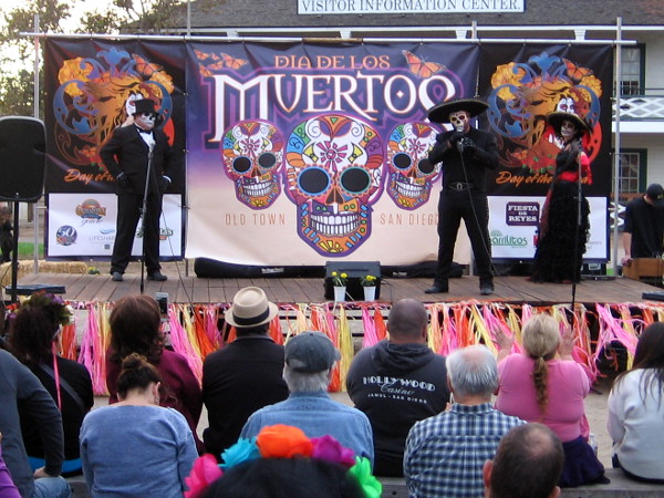 An abundance of music, humor and life on stage during the Dia de Los Muertos celebration in Old Town San Diego!