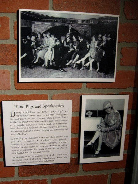 Photos of Blind Pigs and Speakeasies. A Speakeasy sold alcohol during Prohibition, and provided entertainment. Their drinks were tastier than the poisonous rums and moonshines concocted in bathtubs.
