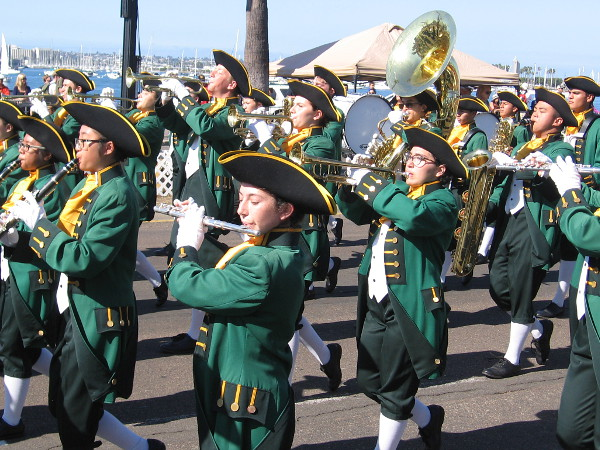 The Patrick Henry High School marching band wows the crowd.