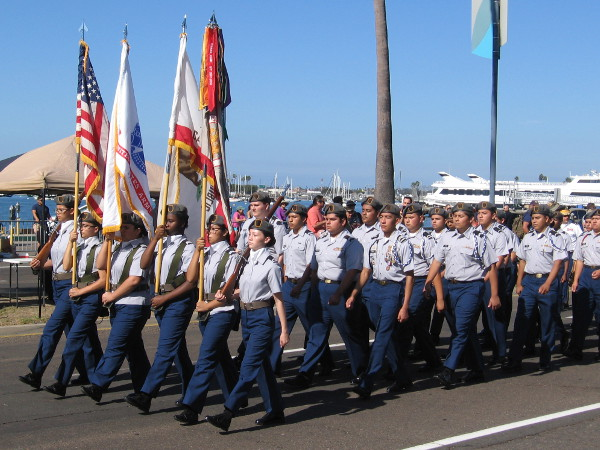 San Diego High School's Army JROTC was in the Veterans Day Parade.