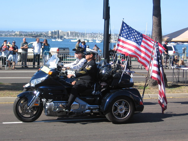Many motorcyclists were also in the big parade.