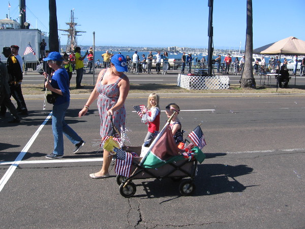 Parade participants included young and old alike.