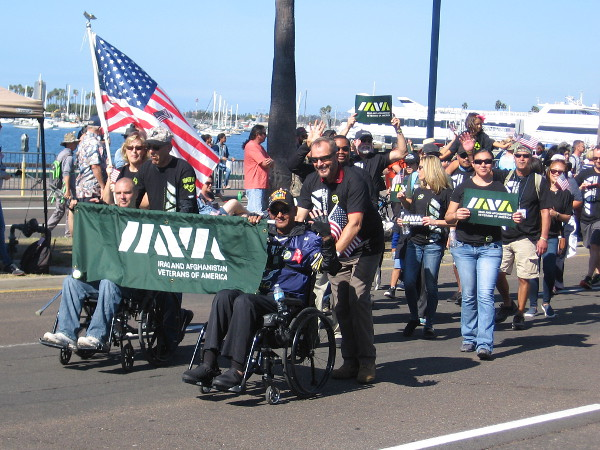 Here come the Iraq and Afghanistan Veterans of America.