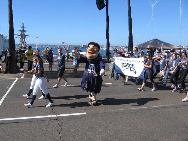 The San Diego Padres baseball team is a big supporter of the active military and all Veterans.