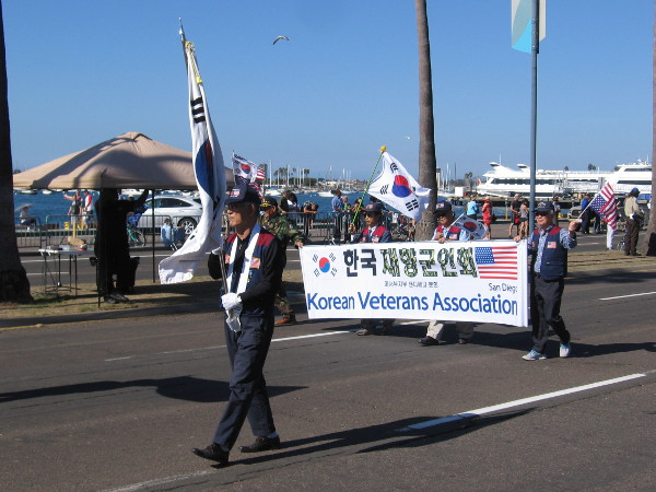 Here comes the Korean Veterans Association.