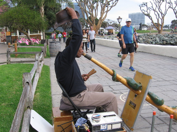 Who is that lifting his hat! It's Mitchell, the cool didgeridoo guy! I was reminded by Mitchell that Earth's sun is a G-type main-sequence star. Nuclear fusion is pretty warm!