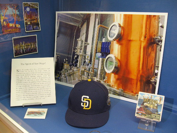 Display celebrates the rise of local San Diego distilleries. Our city is now considered the craft beer capital of the United States.