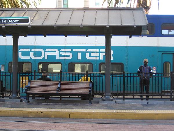 Waiting for a Friday morning Coaster at Santa Fe Depot. One last weekday commute.