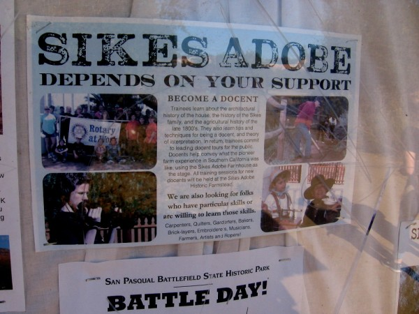 Sikes Adobe depends on your support. Become a docent or volunteer!