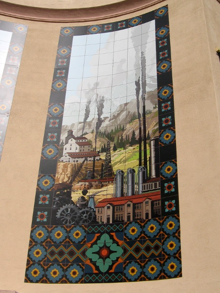 The fourth mural from 1935 depicts California's industrial activity.