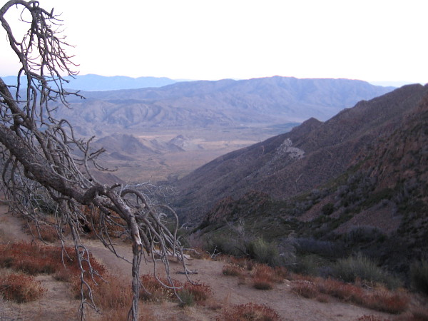 Looking down toward a section of Anza-Borrego Desert State Park northeast of the beautiful Laguna Mountains, which rise to around 6000 feet in San Diego County.