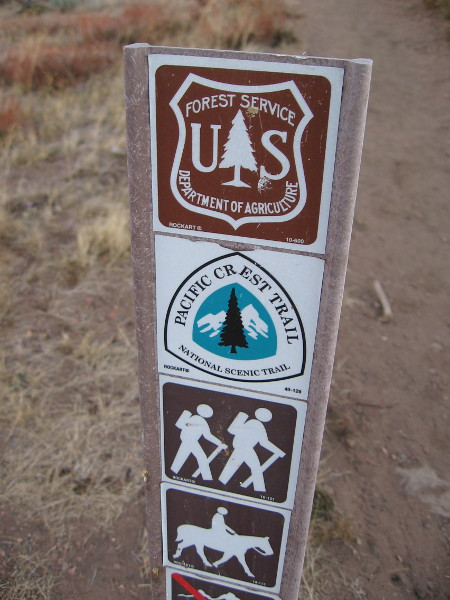 I'm now heading north along the Pacific Crest Trail, which stretches 2,650 miles from Mexico to Canada. I'll go about a mile and a half toward Garnet Peak before turning around. Sunrise is imminent.