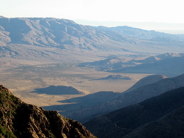 The smooth, dry contours of one part of Anza-Borrego State Park become more apparent. I believe the bulky mountain on the left is Whale Peak.