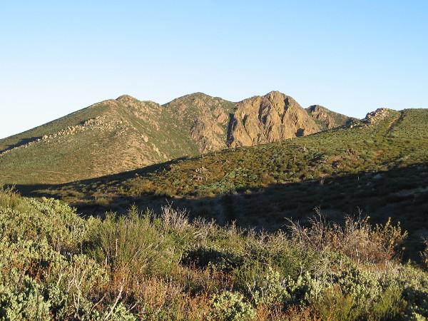 I'm now headed back south toward the Penny Pines Trailhead. One last look north at Garnet Peak.