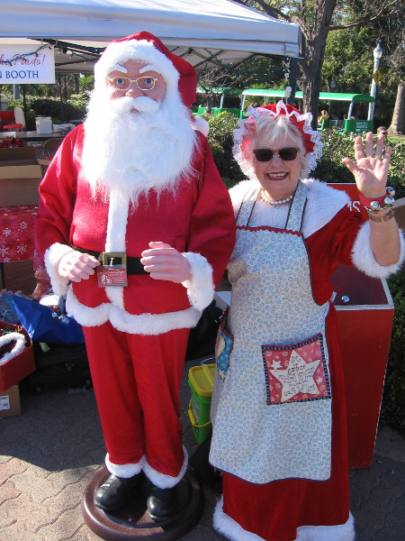 Even with that smile, you can't fool me Mrs. Claus! That's not really Santa!