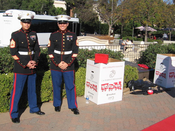 These outstanding U.S. Marines were collecting Toys for Tots during the annual family-friendly event.
