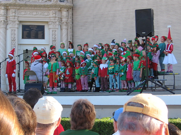 First up to sing were those elves. They attend Dailard Elementary School. Funny songs included Silly Humans and Elfie Selfie.