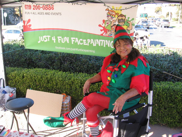 This elf probably thought I was a silly human, who asked her to smile for my camera!