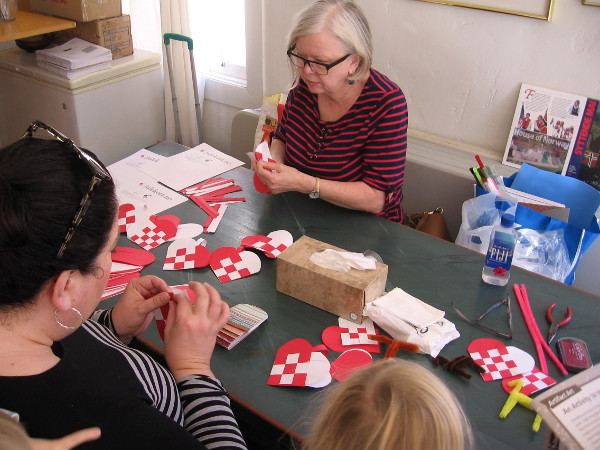 Visitors to the House of Norway were making all sorts of holiday crafts.