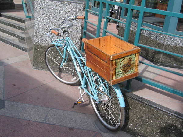 A bicycle, a fine way to travel through a sunny city.