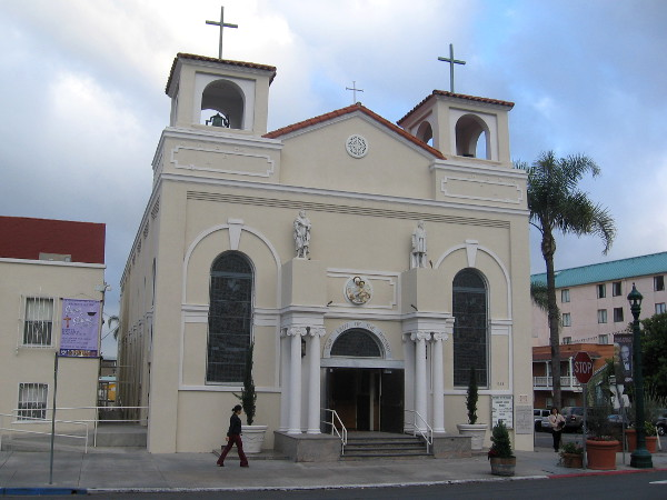 The historic Our Lady of the Rosary Church in Little Italy.