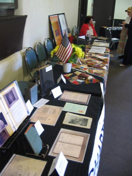Daughters of the American Revolution memorabilia exhibited in Balboa Park.
