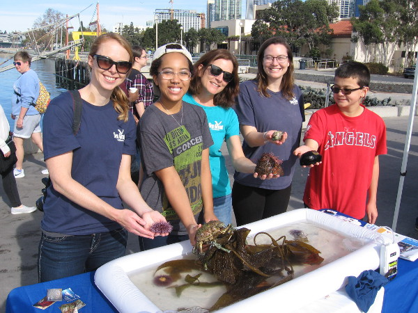These friendly people with Sea Grant California showed me all sorts of fascinating creatures that reside off our coast! They encourage using locally sourced food.