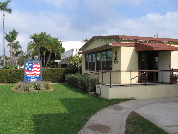Front of the General Henry D. Styer Post 2422 Veterans of Foreign Wars in Coronado.