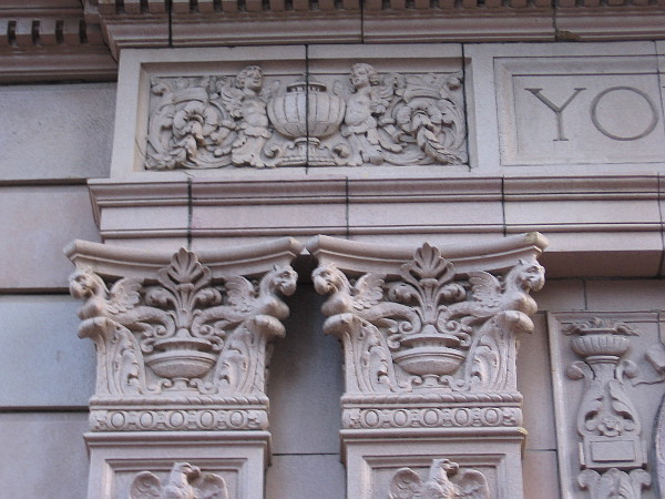 Some beautiful sculptural work around the front entrance.