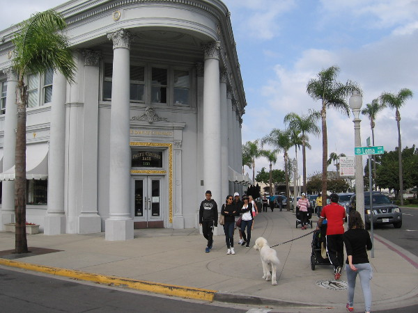 A view of the elegant Spreckels Building erected in 1917, now home to the Bank of Coronado.