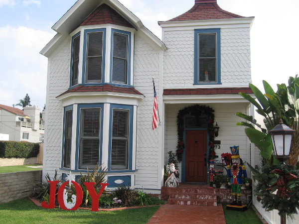 A joyful Victorian house on Orange Avenue reminds those passing by that it's the holiday season in Coronado.