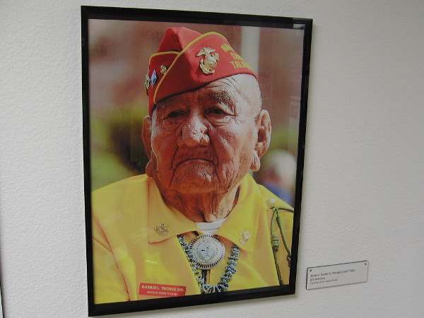 Photo of Samuel Tsosie Sr., Navajo Code Talker during World War II.