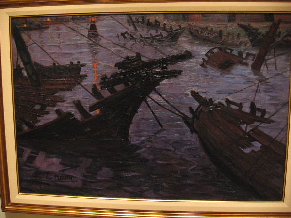 Ship Graveyard, oil on canvas, 1930. Benito Quinquela Martin, Argentinian, 1890-1977.