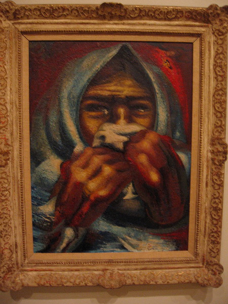 Crying Woman, pyroxylin on Masonite, 1944. David Alfaro Siqueiros, Mexican, 1896-1974.