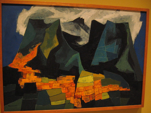 City of Quito, oil on canvas, ca. 1980. Oswaldo Guayasamin, Ecuadorian, 1919-1999.