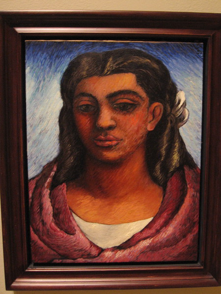 The Mexican or Young Woman with Rebozo, oil on canvas, 1935. Agustin Lazo, Mexican, 1896-1971.