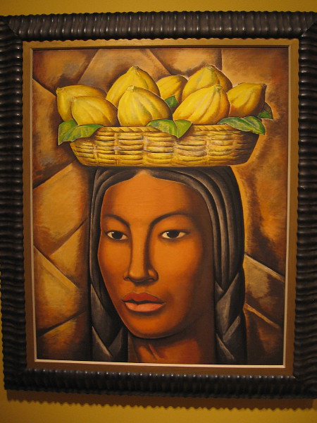The Native, oil on canvas, ca. 1936. Alfredo Ramos Martinez, Mexican, 1871-1946.
