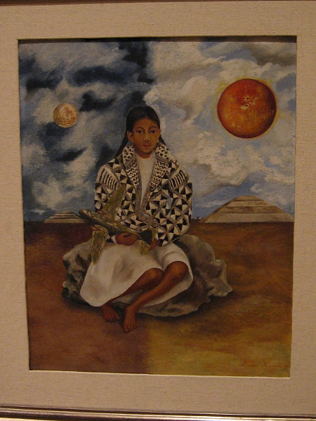 Girl from Tehuacán, Lucha María or Sun and Moon, oil on Masonite, 1942. Frida Kahlo, Mexican, 1907-1954.