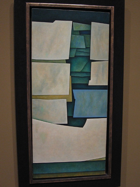 Green Structures, oil on canvas, 1964. Gunther Gerzso, Mexican, 1915-2000.
