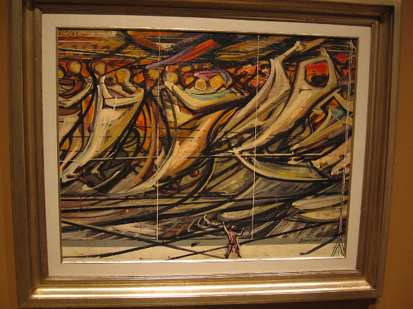 Study for The March of Humanity, oil on recovered plywood, ca. 1968-69. David Alfaro Siqueiros, Mexican, 1896-1974.