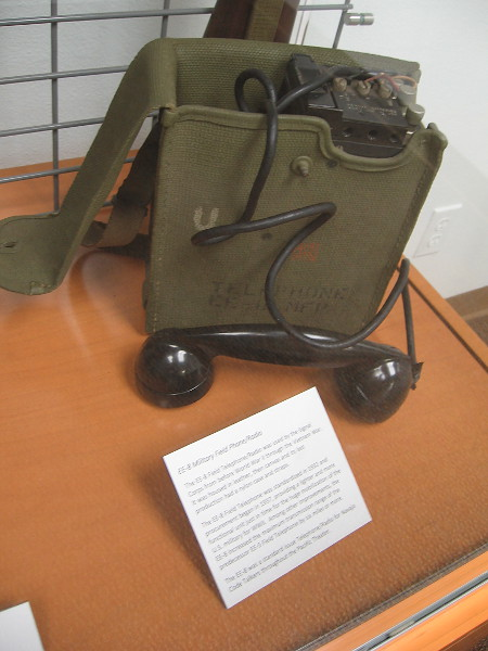 The EE-8 Field Telephone/Radio was used by the Signal Corps from before World War II through the Vietnam War.