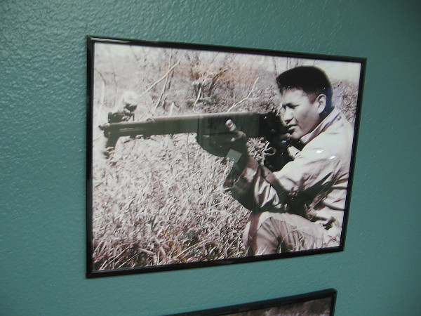 One of four creators of the code, Navajo Code Talker Chester Nez.